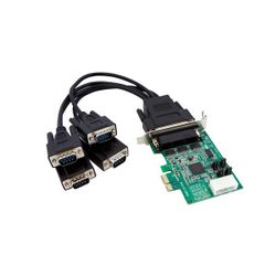 StarTech.com 4-poort Low Profile Native RS232 PCI Express Seriële Kaart met 16950 UART interfacekaart/-adapter