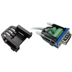 Intronics D-Sub slim kap voor schroefbare D-Sub connectors