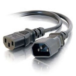 C2G 1.8m 14 AWG 1.8m Zwart electriciteitssnoer