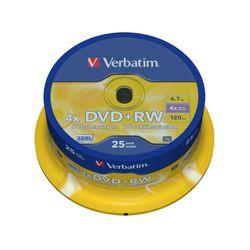 Verbatim DVD+RW Matt Silver 4.7GB DVD+RW 25stuk(s)