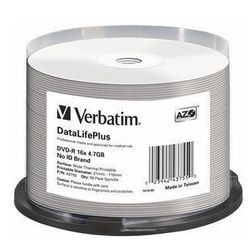 Verbatim DataLifePlus 4.7GB DVD-R 50stuk(s)