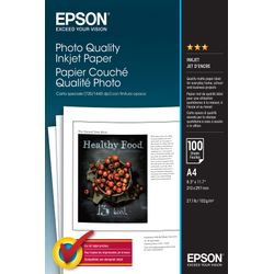 Epson Photo Quality Ink Jet Paper, DIN A4, 102g/m², 100 Vel