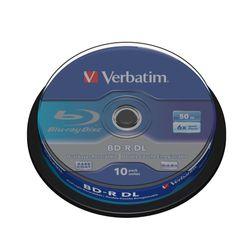 Verbatim BD-R DL 50GB 6 x 10 Pack Spindle BD-R 50GB