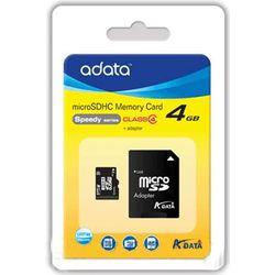ADATA AUSDH4GCL4-RA1 4GB MicroSDHC Klasse 4 flashgeheugen
