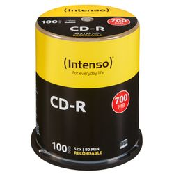 Intenso CD-R 700MB CD-R 700MB 100stuk(s)