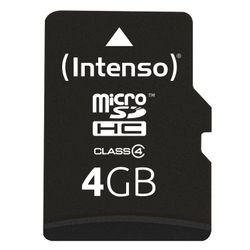 Intenso Secure Digital Card SDHC 4096MB 4GB SD flashgeheugen