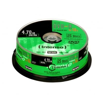 Intenso DVD-R 4.7GB, 16x 4,7 GB 25 stuk(s)
