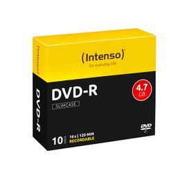Intenso DVD-R 4.7GB, 16x 4.7GB DVD-R 10stuk(s)