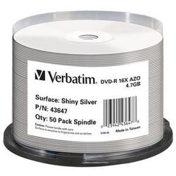 Verbatim 43647 4.7GB DVD-R 50stuk(s) lege dvd