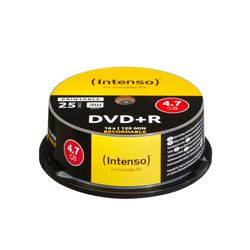 Intenso DVD+R 4.7GB, Printable, 16x 4,7 GB 25 stuk(s)