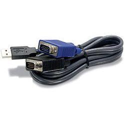 Trendnet 1.8m USB/VGA 1.8m Zwart toetsenbord-video-muis