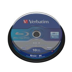 Verbatim BD-R SL 25GB 6 x 10 Pack Spindle BD-R 25GB