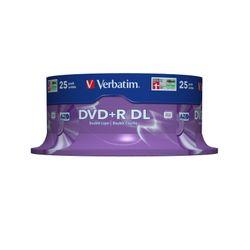 Verbatim DVD+R Double Layer 8x Matt Silver 25pk Spindle