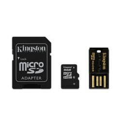 Kingston Technology 16GB Multi Kit 16GB MicroSDHC Flash