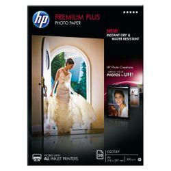 HP Premium Plus glanzend fotopapier, 20 vel, A4/210 x 297 mm pak fotopapier