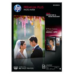 HP Premium Plus glanzend fotopapier, 50 vel, A4/210 x 297 mm
