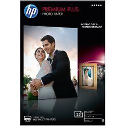 HP Premium Plus glanzend fotopapier, 25 vel, 10 x 15 cm pak fotopapier