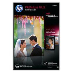 HP Premium Plus glanzend fotopapier, 50 vel, 10 x 15 cm pak fotopapier