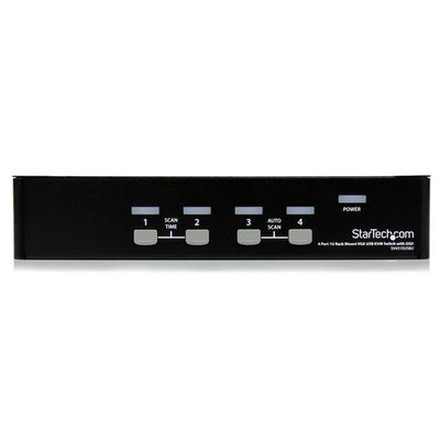 StarTech.com 4-poort 1U-Rack USB KVM-switch met OSD