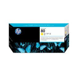 HP 80 gele DesignJet printkop en printkopreiniger