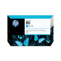 HP 80 cyaan DesignJet inktcartridge, 350 ml