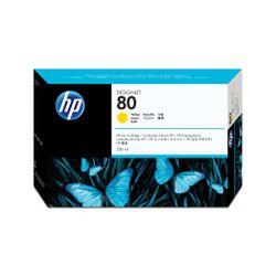 HP Inkt Cartridge no. 80 geel 350ml voor Designjet 1000-serie