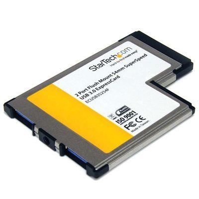 StarTech.com 2-poorts verzonken gemonteerde ExpressCard 54 mm SuperSpeed USB 3.0 kaartadapter met UASP-ondersteuning