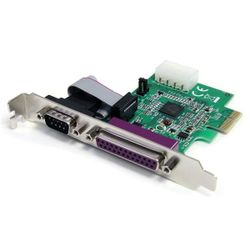 StarTech.com 1S1P Native PCI Express Parallelle Seriële Combokaart met 16950 UART interfacekaart/-adapter