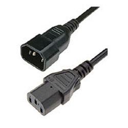 HPE 142257-002 2.5m C14 stekker C13 stekker Zwart