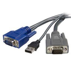 StarTech.com 3m ultradunne 2-in-1 USB VGA KVM-kabel