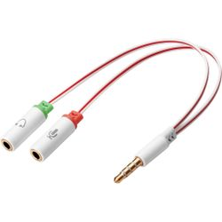 Sandberg Headset converter Dual->Single audio kabel