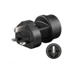 Microconnect Universal adapter UK to Schuko work to UK, US, DK, CH, IT. (PETRAVEL1)