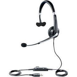 Jabra UC Voice 550 MS Mono Monauraal Hoofdband Zwart, Zilver