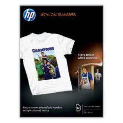 HP T-shirt transfers, 12 vel, A4/210 x 297 mm
