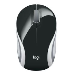 Logitech Wireless Mini Mouse M187 black muis