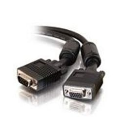 C2G 10m Monitor HD15 M/F cable VGA kabel VGA (D-Sub) Zwart