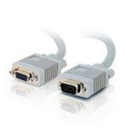 C2G 0.5m Monitor HD15 M/F cable VGA kabel 0,5 m VGA (D-Sub) Grijs