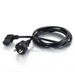 C2G 5m 90° Power Cord 5m Zwart electriciteitssnoer