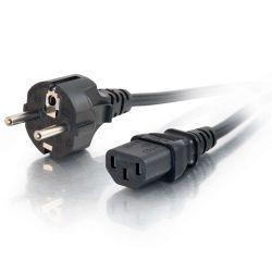 C2G 1 m 16 AWG Europese voedingskabel (IEC320C13 naar CEE7/7)