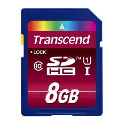 Transcend TS8GSDHC10U1 8GB SDHC UHS-I Klasse 10 flashgeheugen