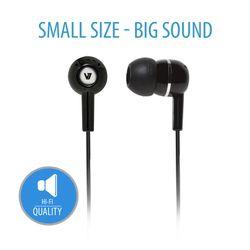 V7 HA100-2EP Zwart Intraauraal In-ear koptelefoon