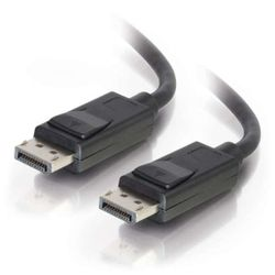 C2G DisplayPort Cable met Latches - DisplayPort kabel - DisplayPort (M) naar DisplayPort (M) - 5 m - vergrendeld - zwart