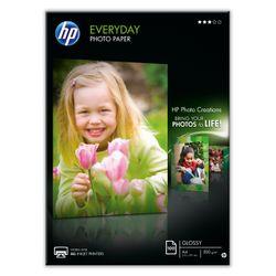 HP Hârtie foto lucioas? Everyday - 100 coli/A4/210 x 297 mm pak fotopapier Zwart, Blauw, Wit