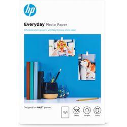 HP Everyday glanzend fotopapier, 100 vel, 10 x 15 cm pak fotopapier