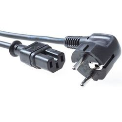 Intronics Advanced Cable Technology 230V aansluitkabel schuko male (haaks) - C15 zwart-AK5001