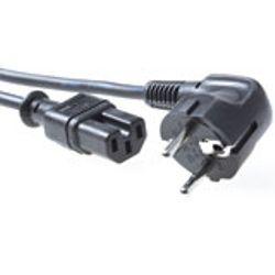Advanced Cable Technology 230V aansluitkabel schuko male (haaks) - C15 zwart