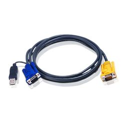 Aten 2L5202UP toetsenbord-video-muis (kvm) kabel Zwart 1,8 m