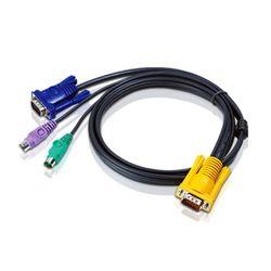 Aten 2L5203P 3m Zwart toetsenbord-video-muis (kvm) kabel