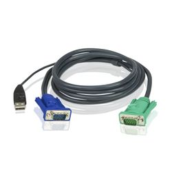 Aten 2L5203U 3m Zwart toetsenbord-video-muis (kvm) kabel