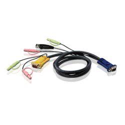 Aten 2L5302U 1.8m Zwart toetsenbord-video-muis (kvm) kabel